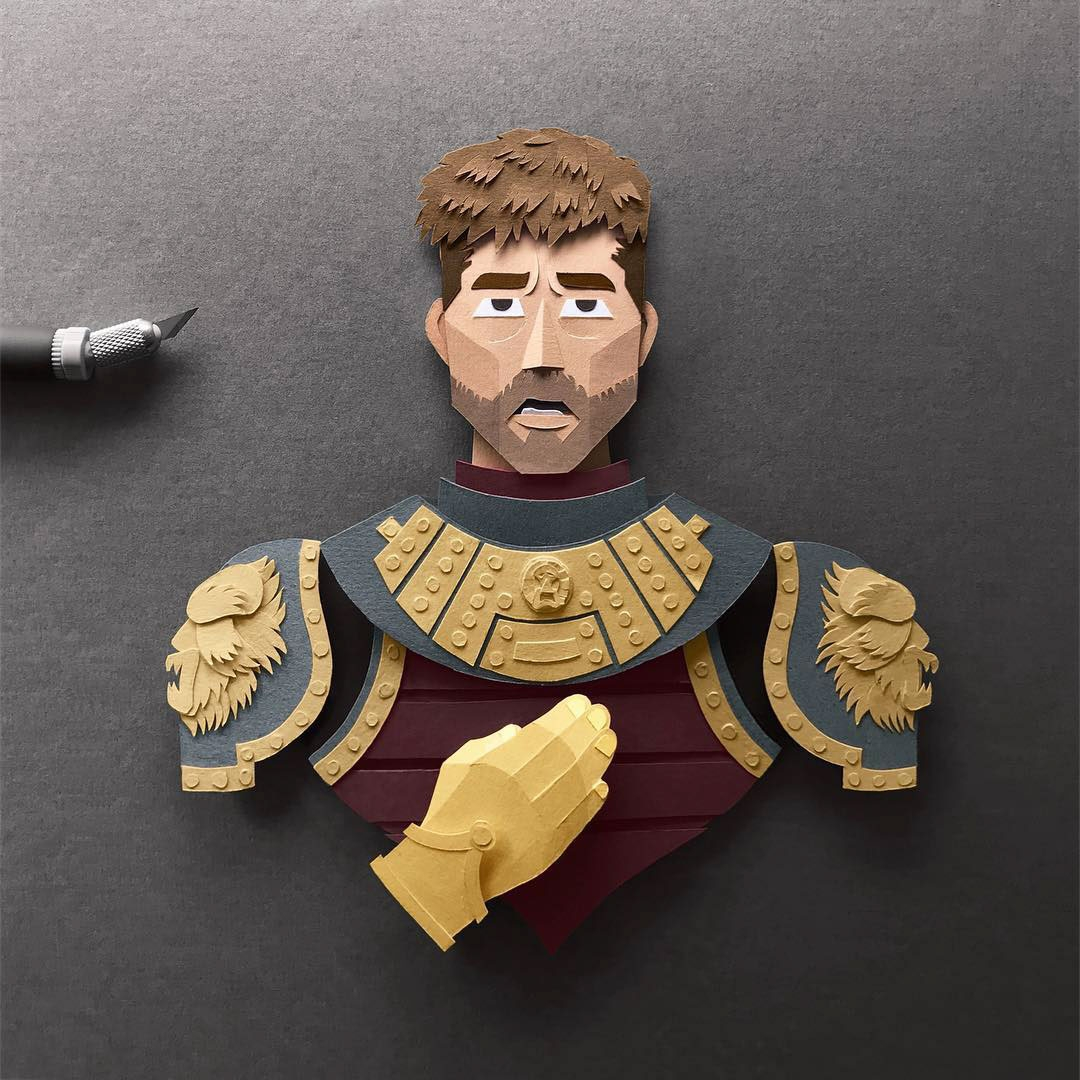 Amazingly Detailed Paper Cuts of Game of Thrones Characters