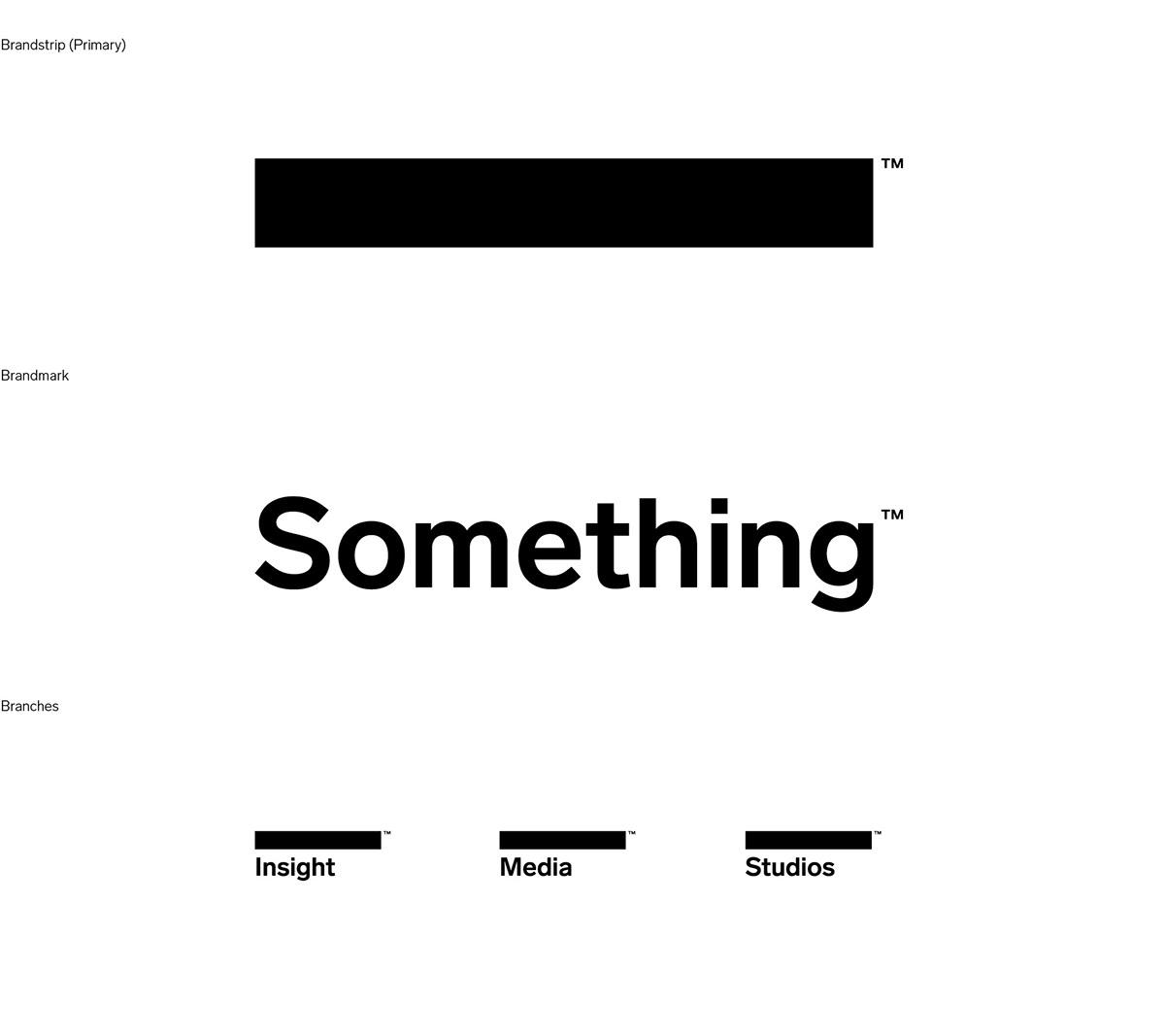 No Logo Logo! Brand Identity for Something
