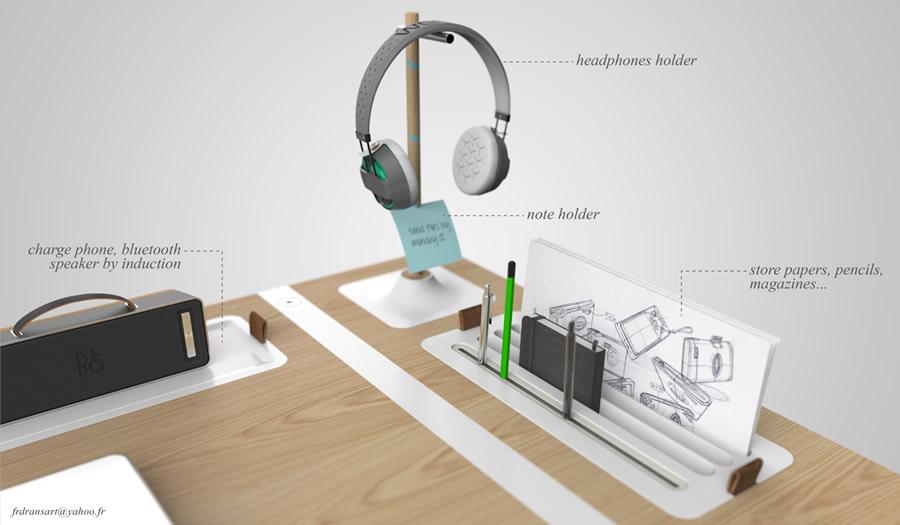 Desk Concept by François Dransart