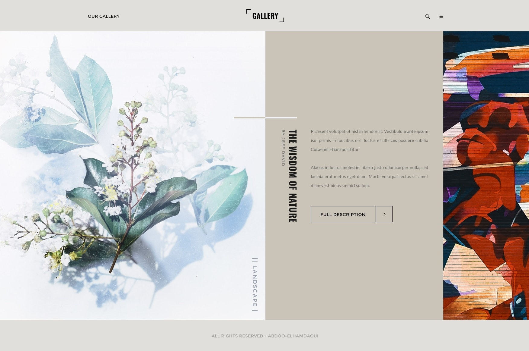 The wisdom of nature gallery display design