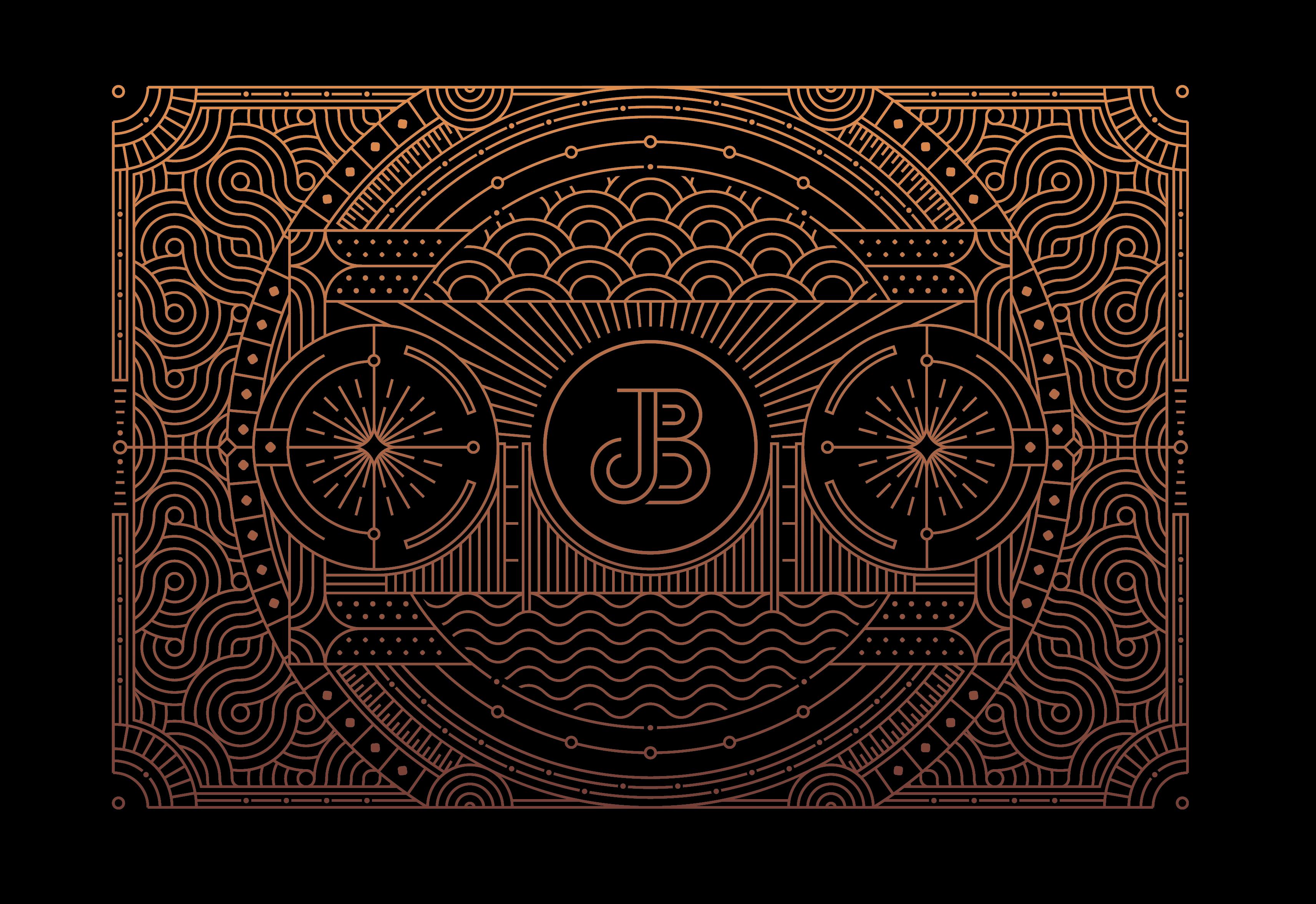 Minimal Lettermark logo and Line Graphic Illustration for Juicebox
