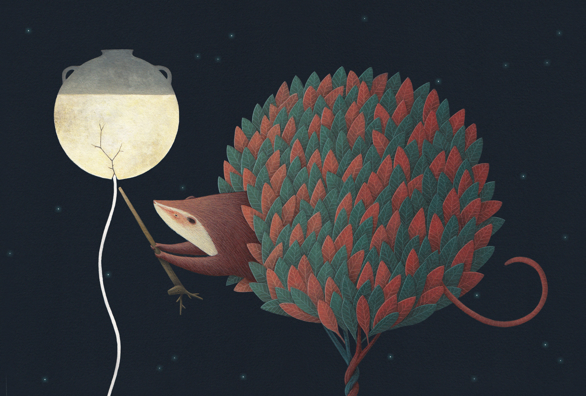 The Moon's Magical Mythology Captured in an Illustrated Book by David Álvarez