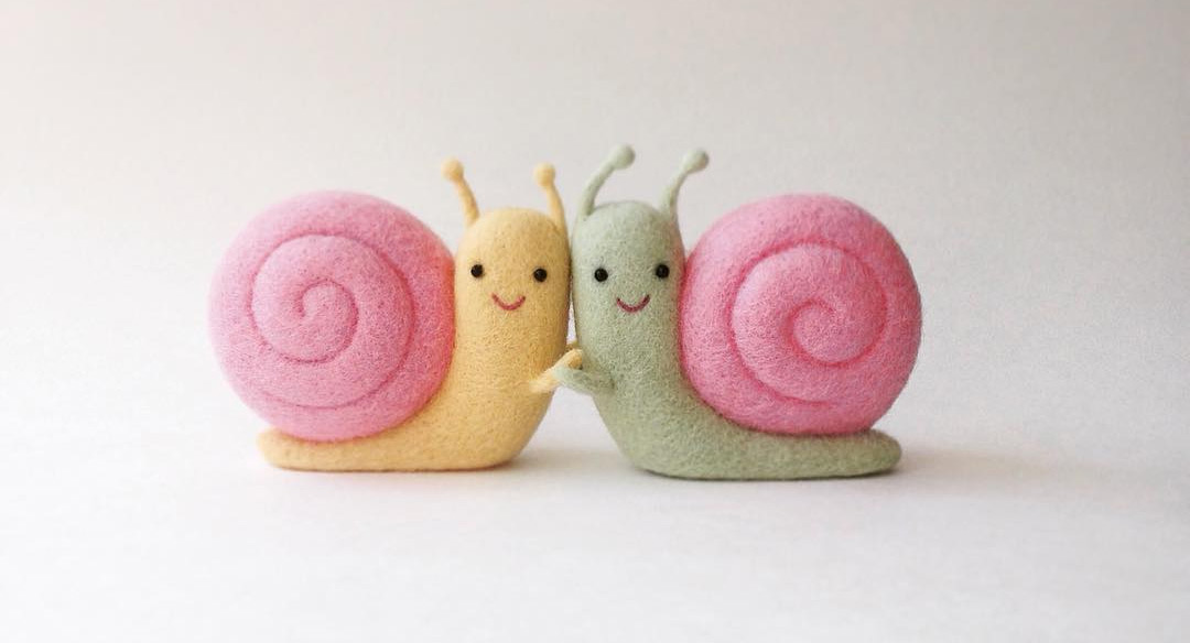 Families of Carrots, Miniature Mountains, and Baguettes Crafted from Needle Felted Wool by Hanna Dovhan