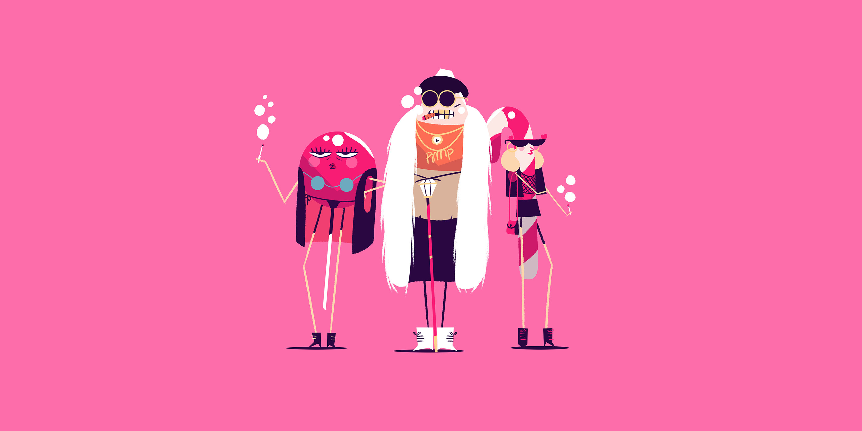Illustration and Motion Graphics and Character Design
