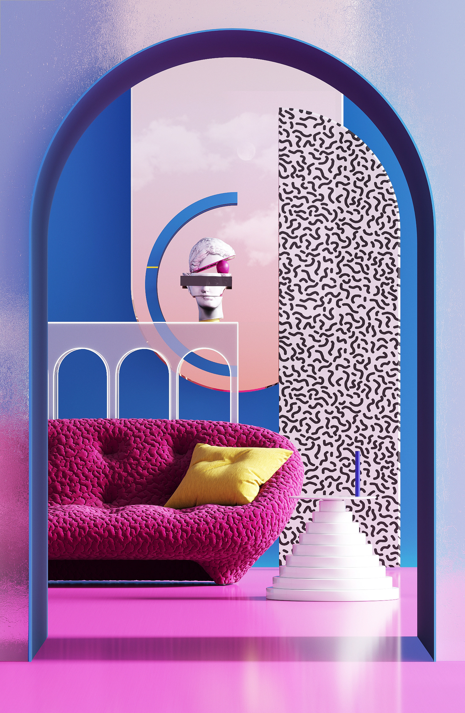 Interior Design and Digital Art and Illustration