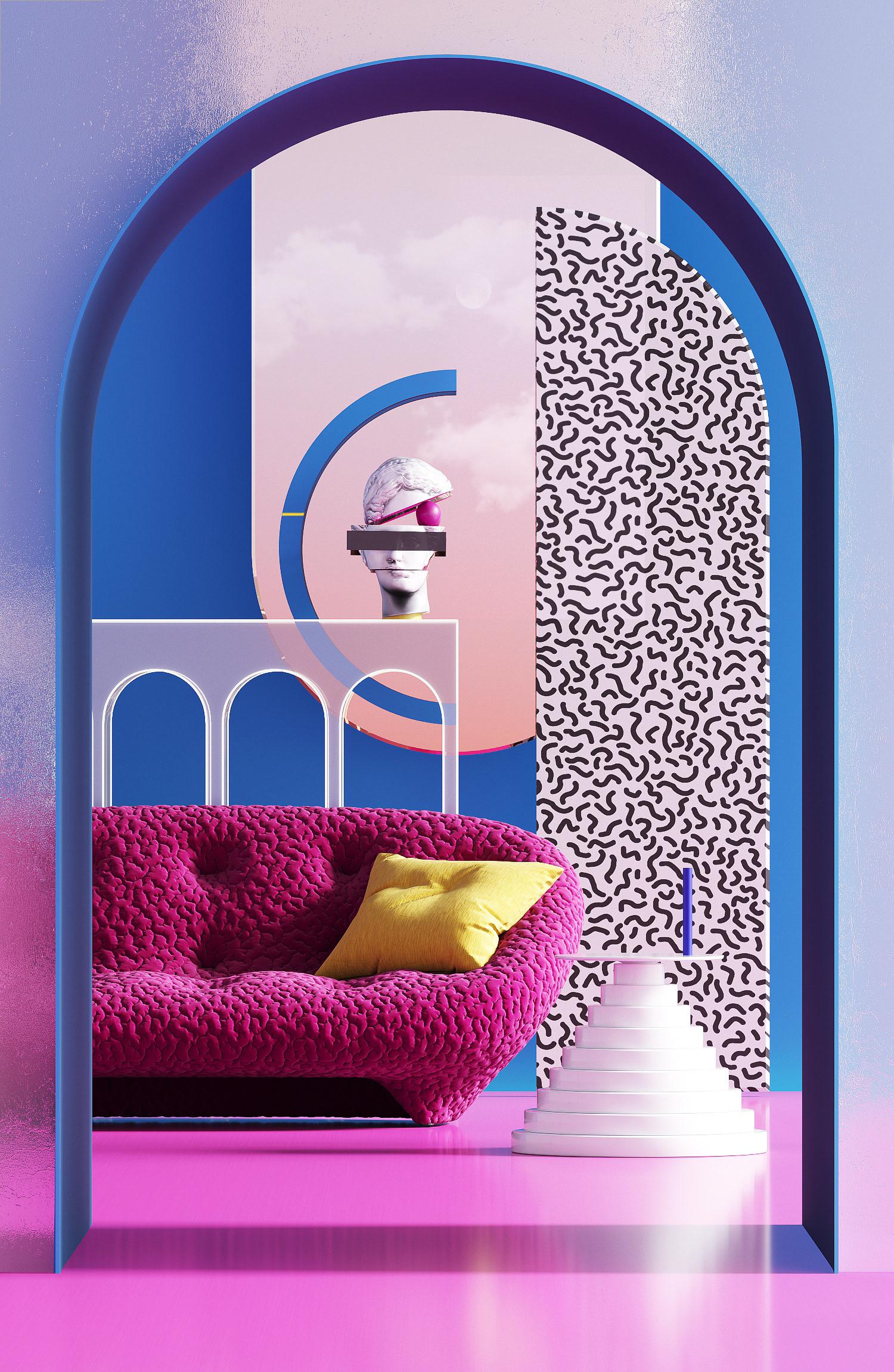 Interior Design and Digital Art and Illustration