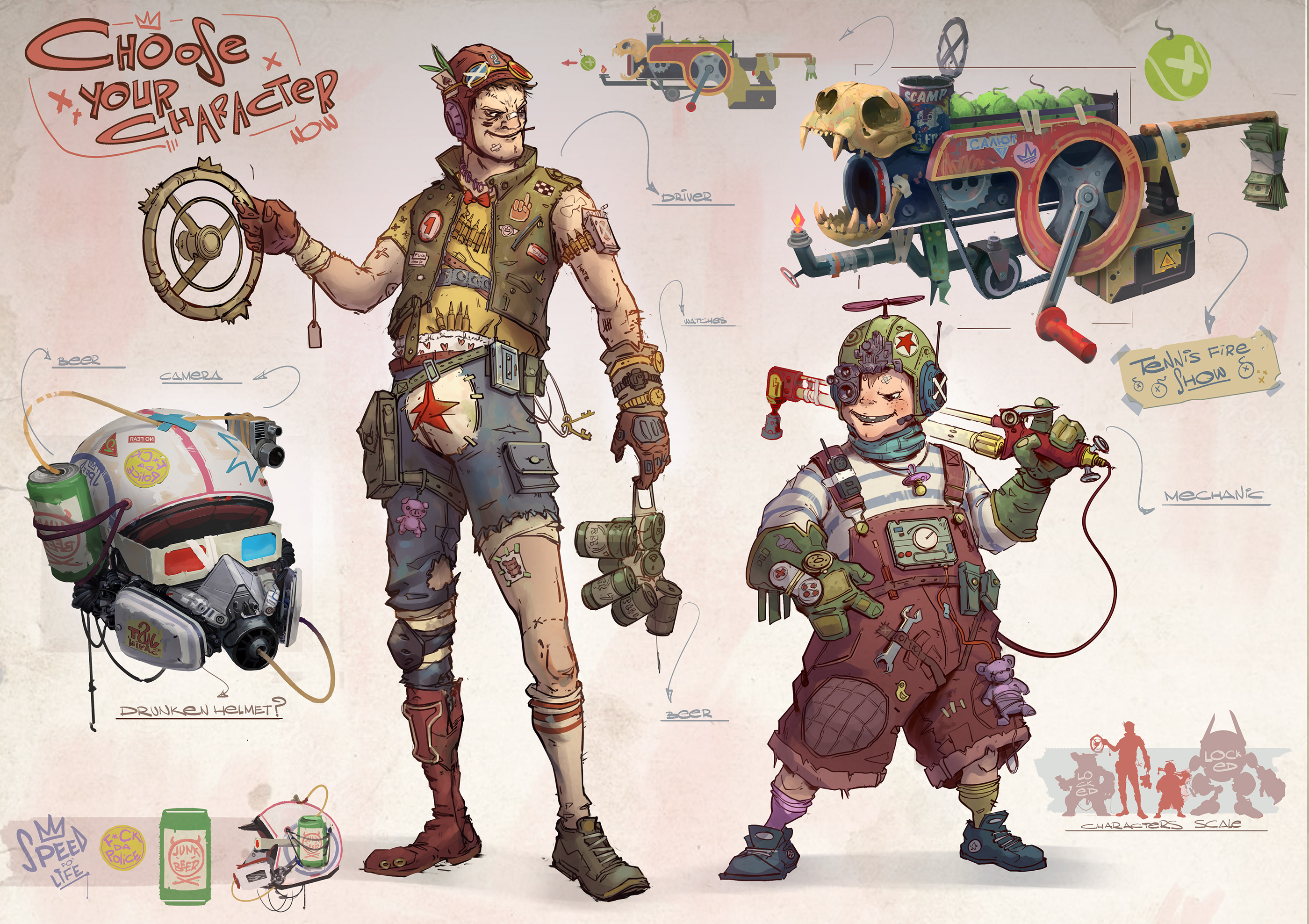 Game Design and Character Design and Digital Art
