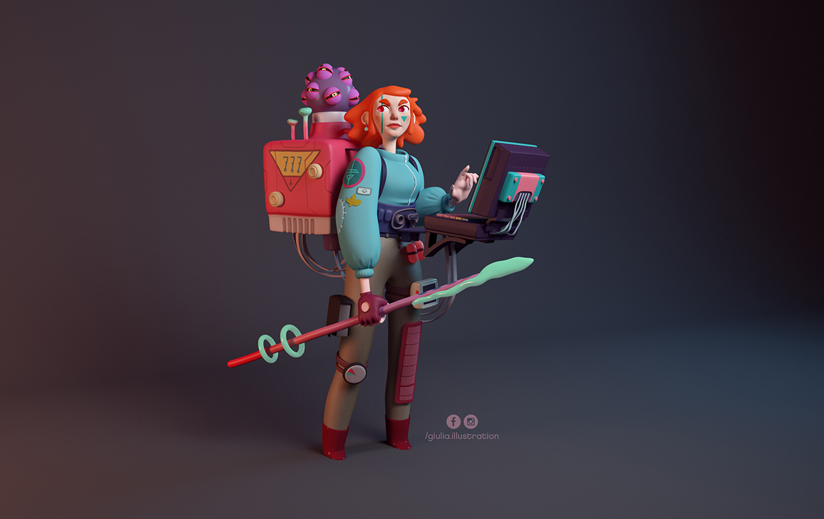 Digital Art and Character Design and Sculpting