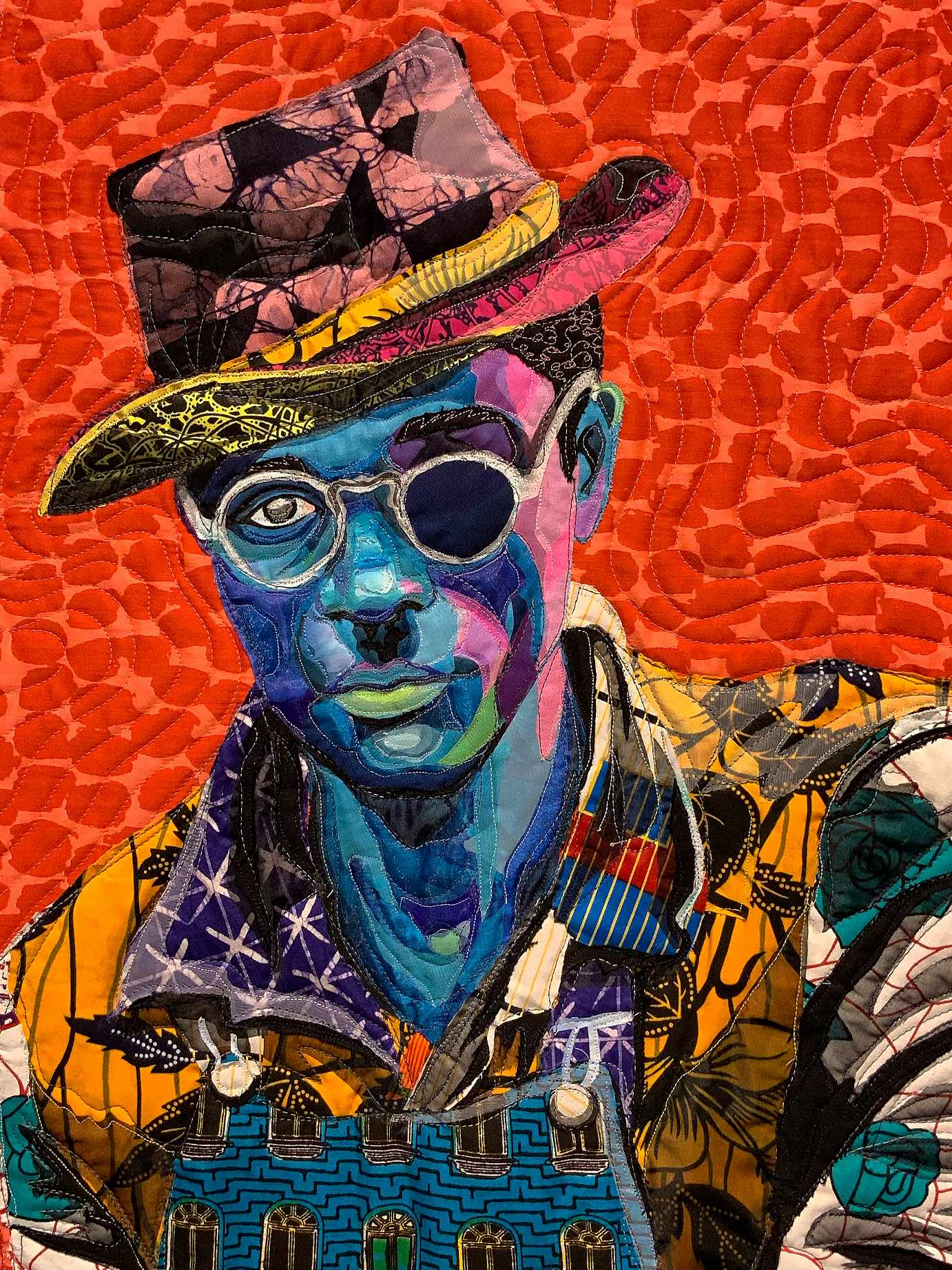 African Fabrics to Form Nuanced Portraits