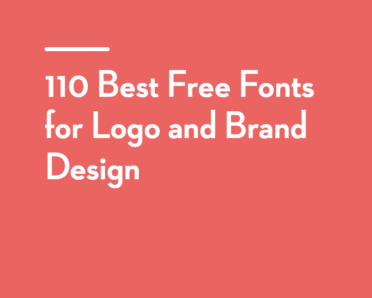 110 Best Free Fonts for Logo and Brand Design