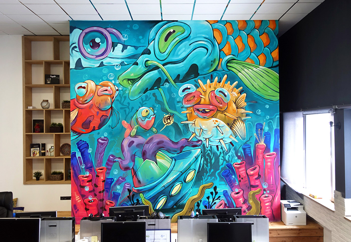 Interior Design, Graffiti, Illustration