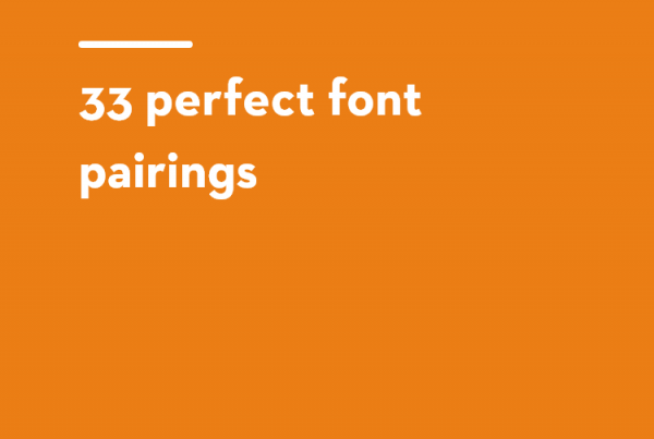 33 perfect font pairings