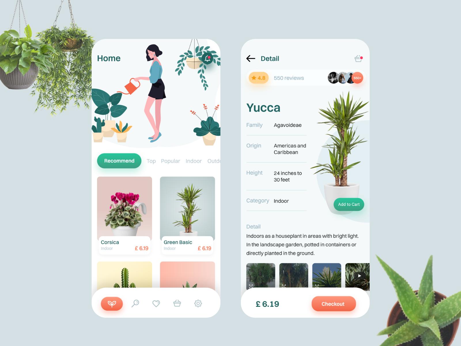 UI Design Inspiration My Plants App