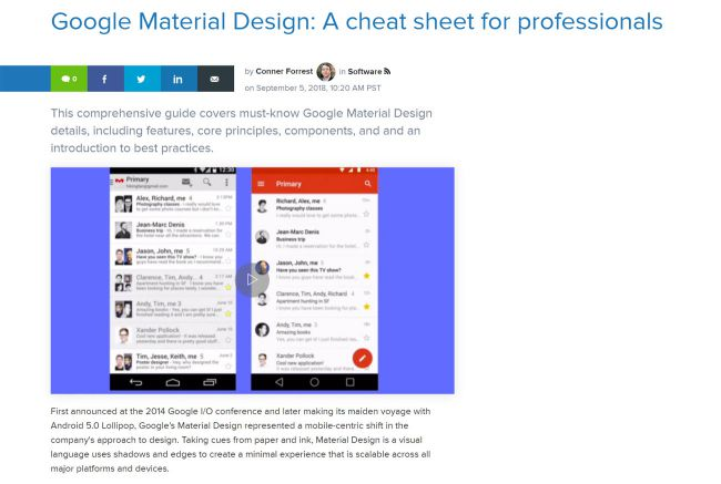 Google Material Design – a cheat sheet for professionals