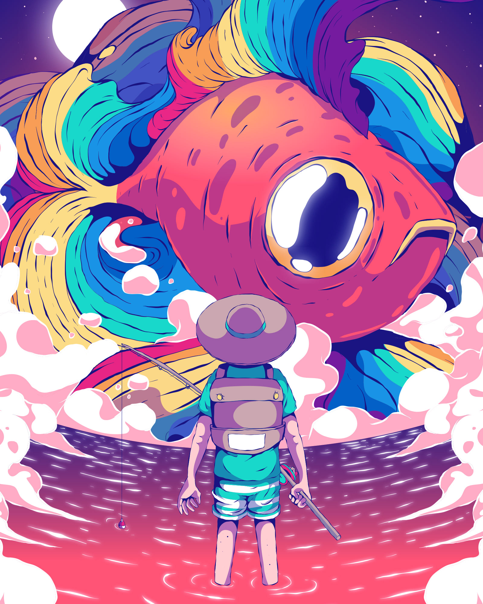 Colorful Pop Illustrations By Fernando Nunes
