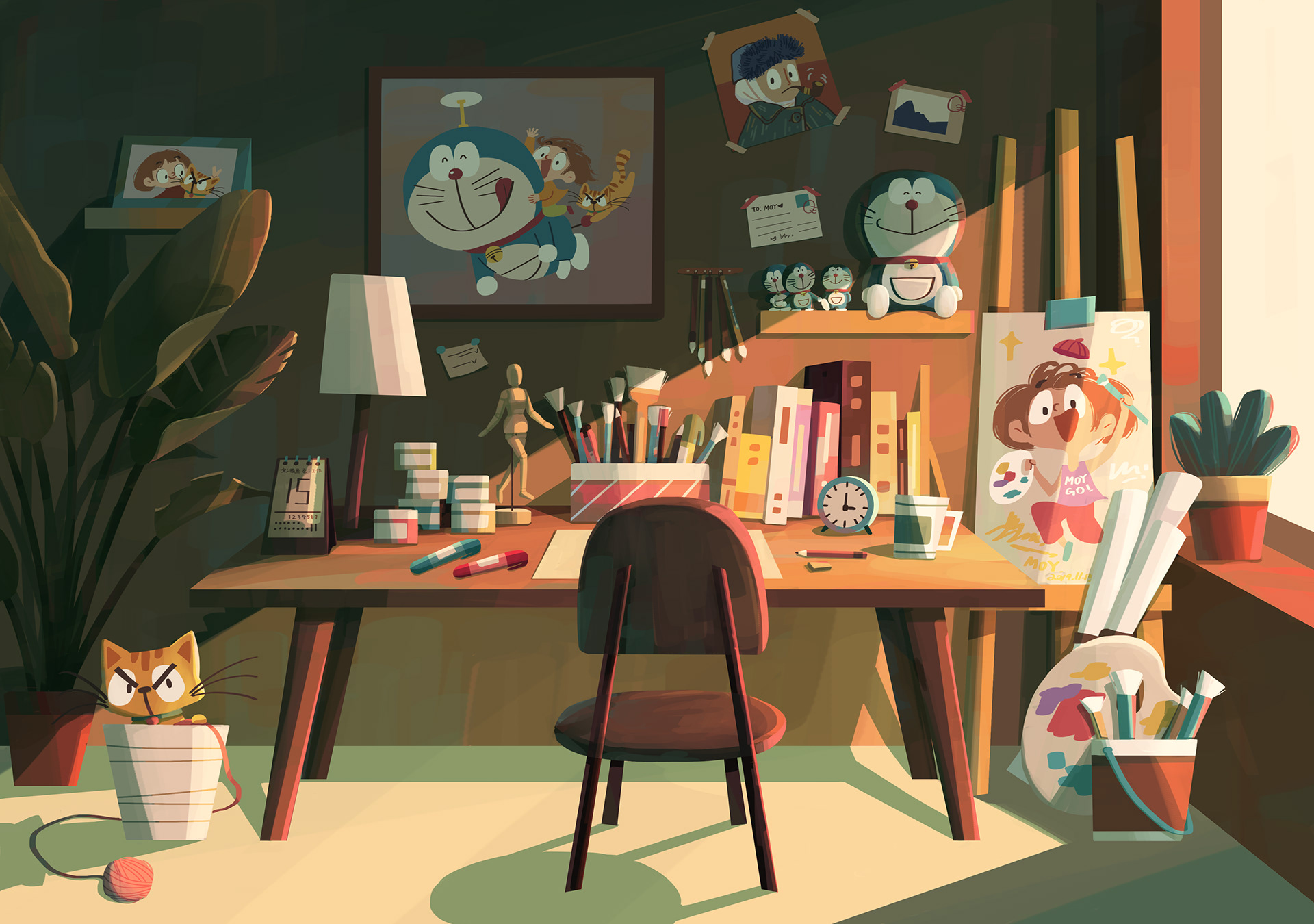Illustration,Fine Arts,Painting
