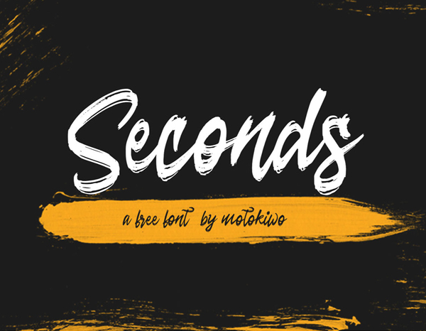 Seconds Rough Brush Script Free Font Font