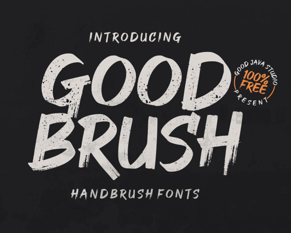 Good Brush Free Font Font