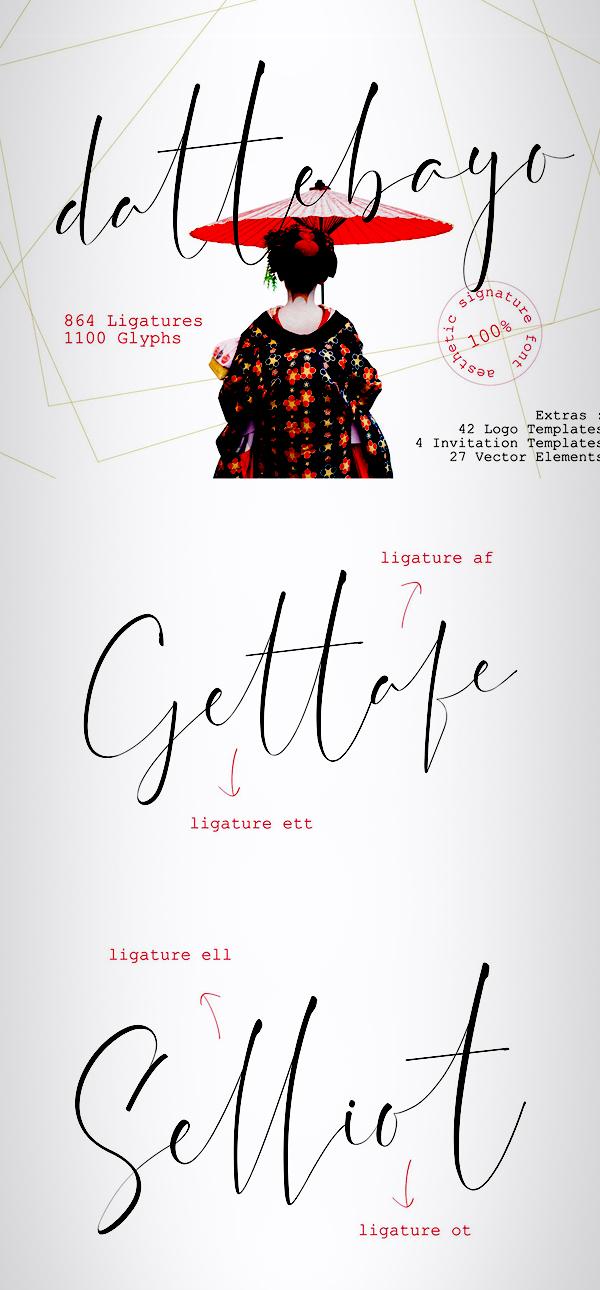 Dattebayo Free Signature Font Font
