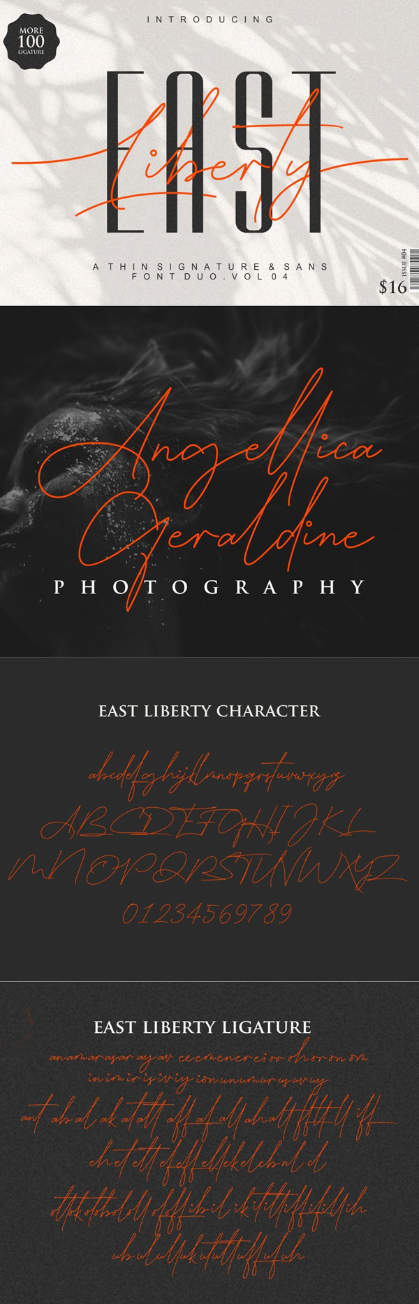 East Liberty Thin Free Font Font