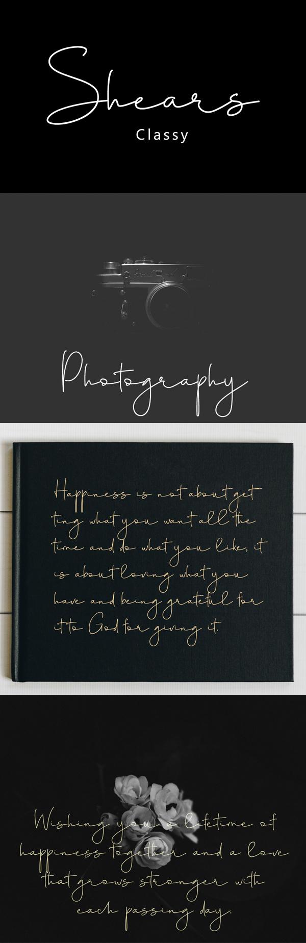 Shears Script Free Font Font