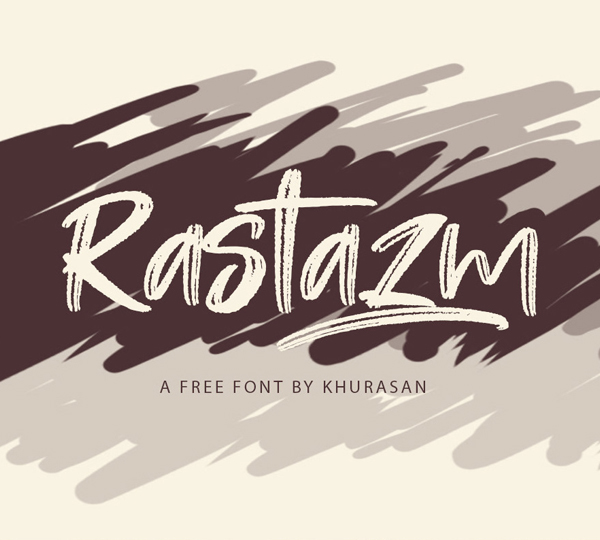 Rastazm Script Free Font Font