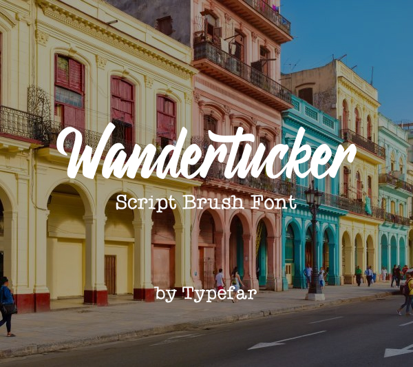 Wandertucker Free Font Font