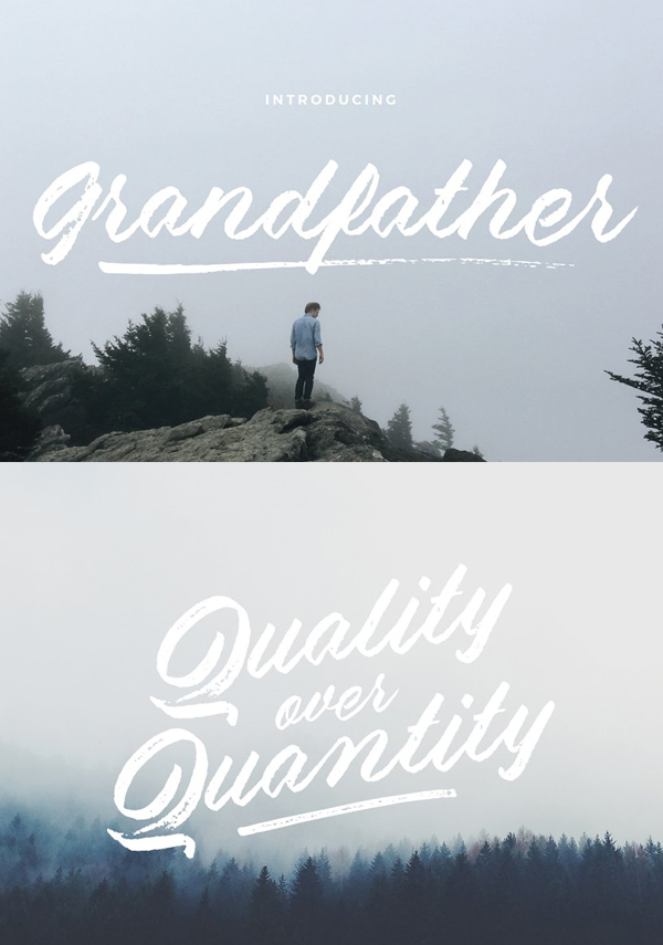 Grandfather – Brush Script Free Font Font