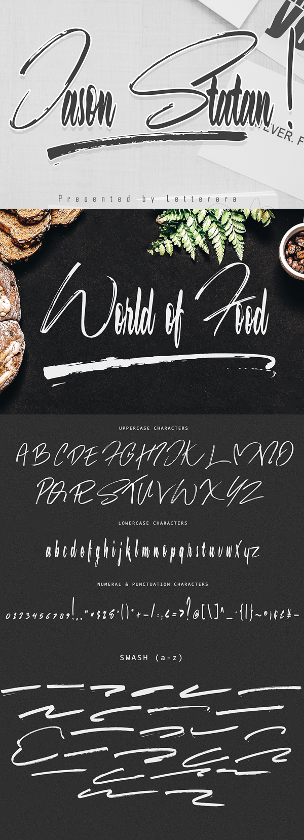 Jason Statan Brush Free Font Font