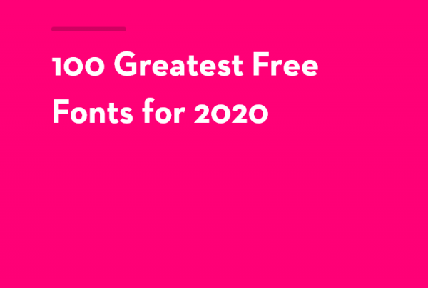 Free Fonts for 2020