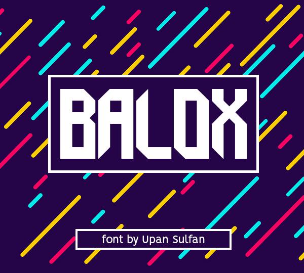 Balox Free Font Font
