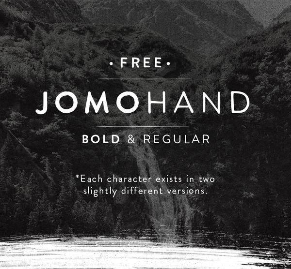 Jomohand Free Font Font