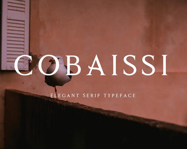 Cobaissi Serif Free Font Font