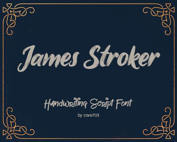 James Stroker Script Free Font Font