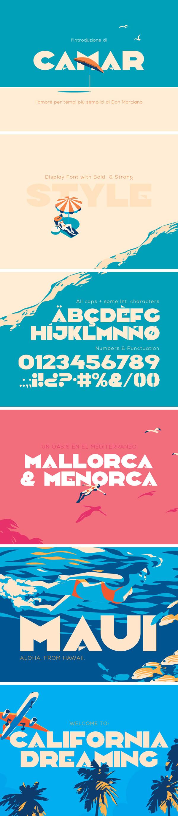 Camar Vintage Free Font Font