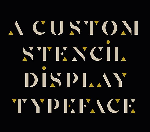 Senda Custom Stencil Free Font Font