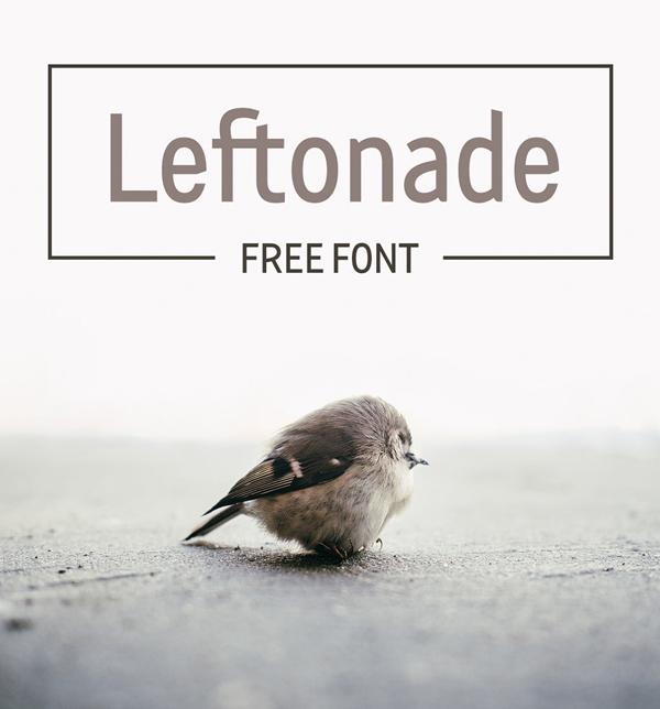 LEFTONADE Free Font Font