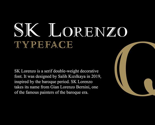 SK Lorenzo Free Font Font