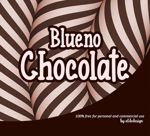 Blueno Chocolate Free Font Font