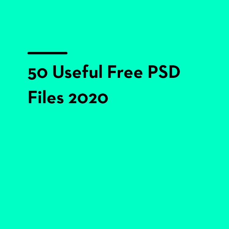 50 Useful Free PSD Files 2020