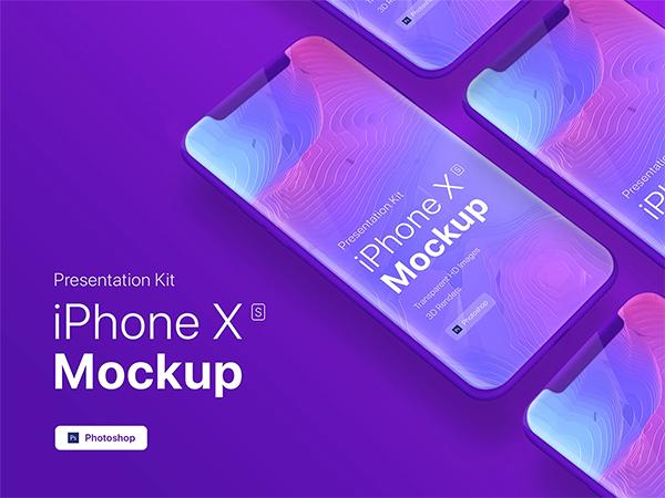 iPhone XS App Mobile Showcase Mock-Up