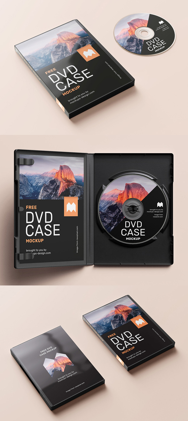 Free DVD Case Mockup Template