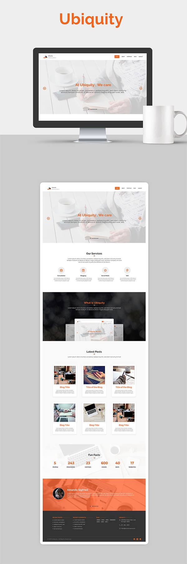 Free Website UI XD Template