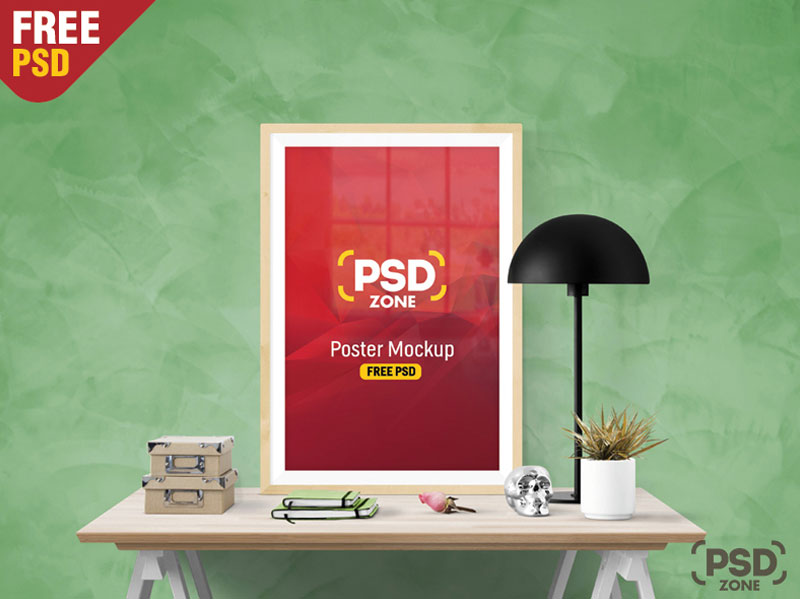 Poster Frame Mockup Free PSD Template