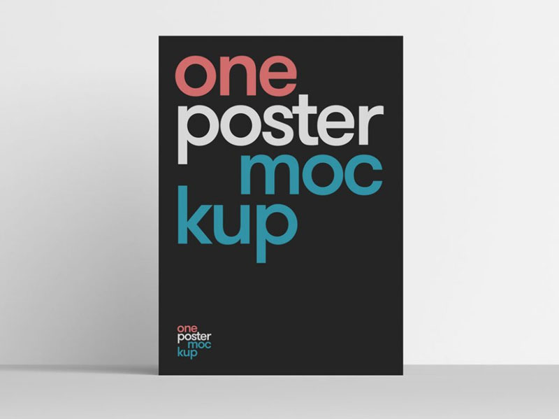 Clean Poster PSD Mockup