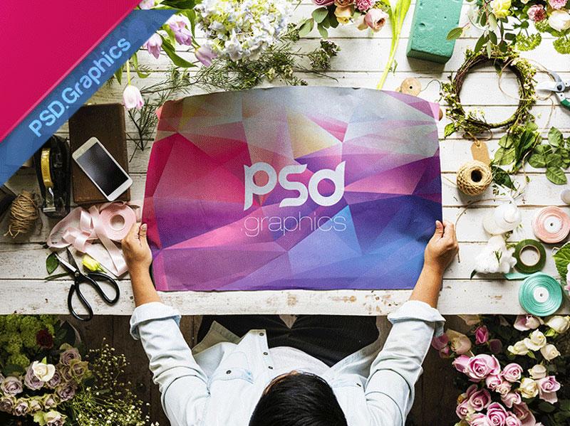 A1 Poster Mockup Free PSD