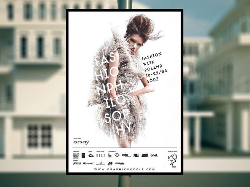 Free Outdoor Advertising Poster Mock-up Psd
