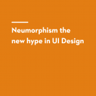 Neumorphism the new hype in ui design