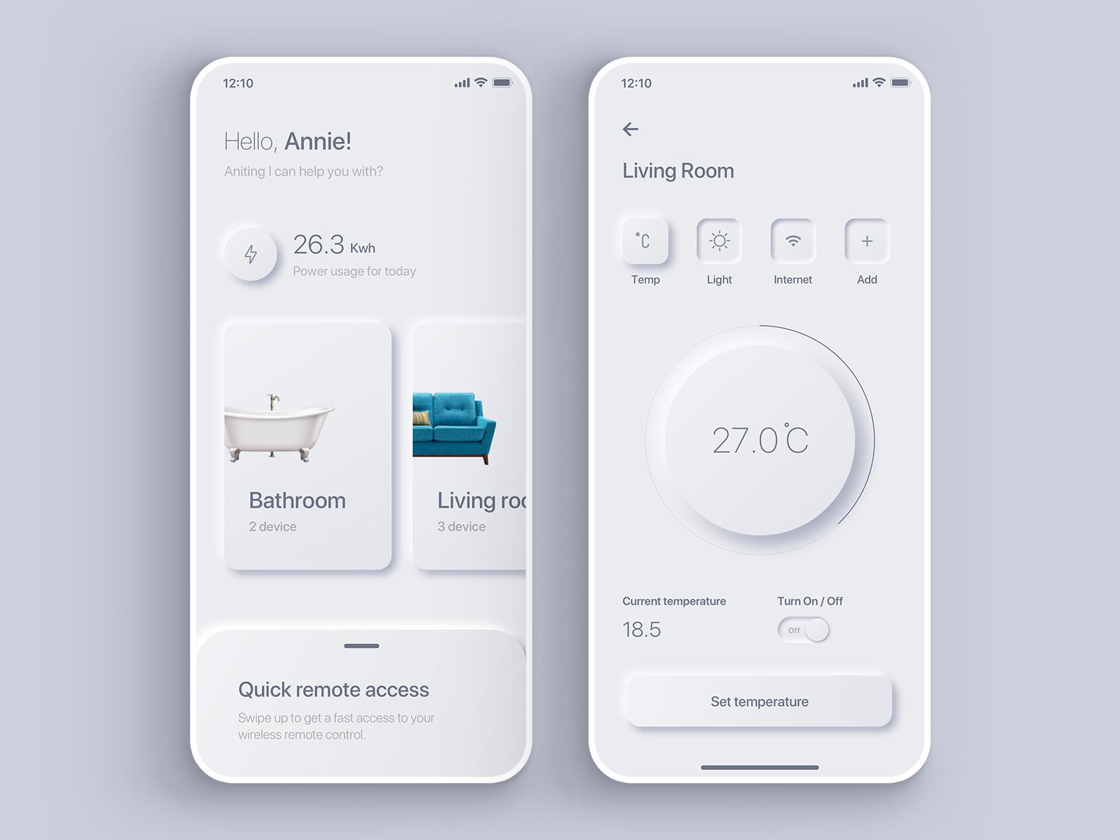 Neumorphism UI Design