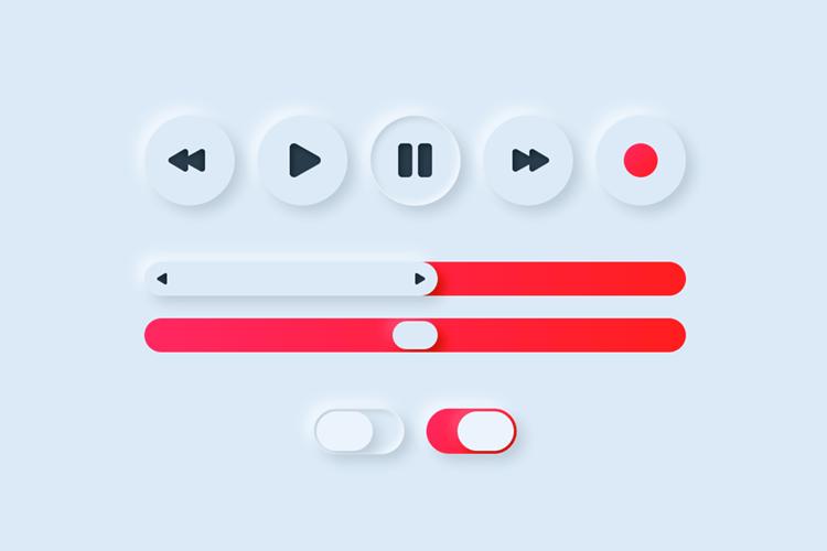 Neumorphic UI elements
